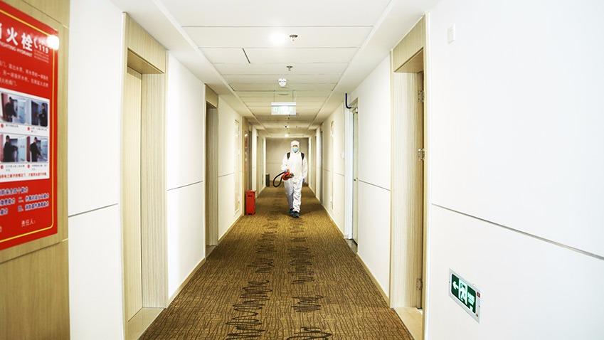 合肥汉庭快捷酒店-电动喷雾器杀虫消毒服务